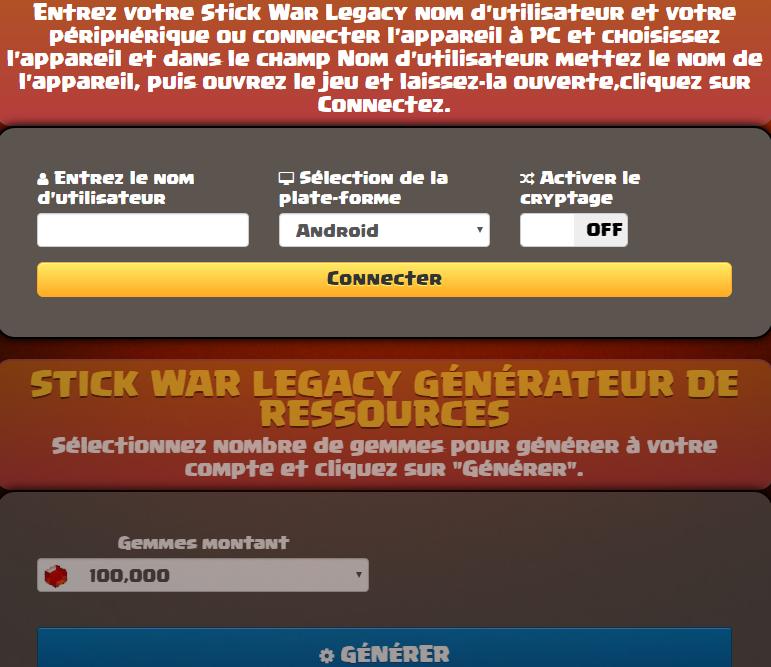 Stick War Legacy Triche