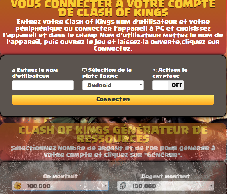 Clash of Kings Triche